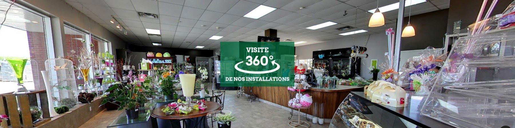 Vue 360 du magasin Charbonneau L'Expert, fleuriste à Laval