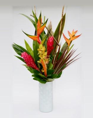 Bouquet de fleurs exotiques et tropicales