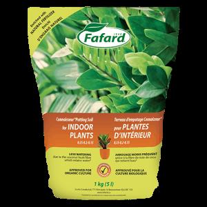 Terreau pour plantes d'intérieur et tropicales 10L