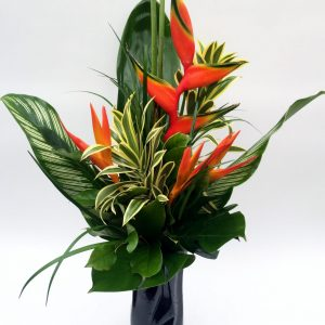 Bouquet exotique orangé