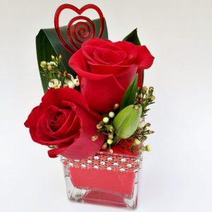 Petites roses rouges