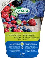 Engrais petits fruits et plantes acidophiles fafard