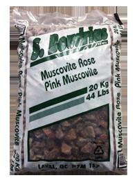 Roche muscovité rose
