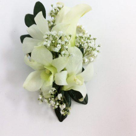 Bracelet d'orchidées blanches