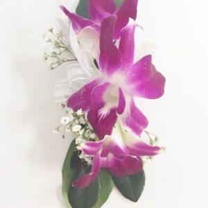 Bracelet d'orchidées fuchsias