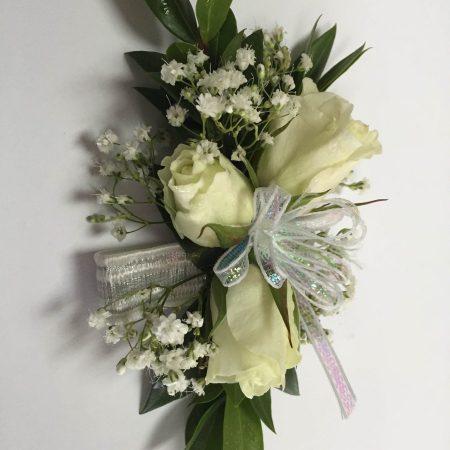 Bracelet de rosettes blanches