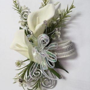 Bracelet de minis callas blancs