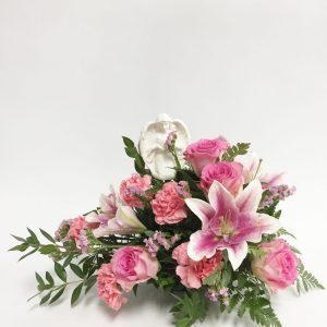 Arrangement ange et rose