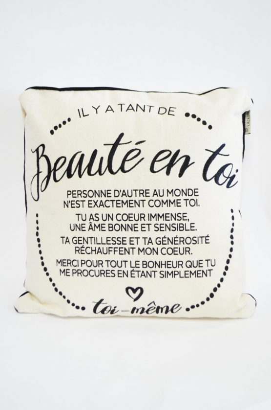 Coussin Chantal Lacroix Beauté en toi