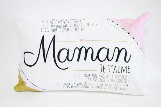 Coussin Chantal Lacroix Maman je t'aime