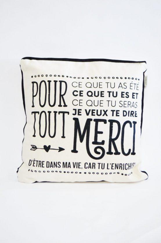 Coussin Chantal Lacroix Pour tout merci