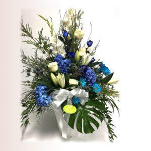 Arrangement hommage en bleu
