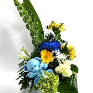 Bouquet nouveau bébé en bleu