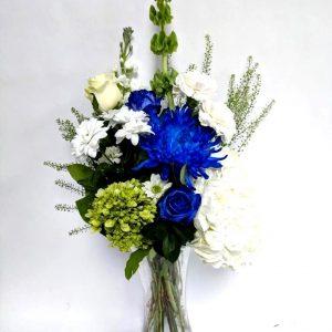 Bouquet la beauté en bleu