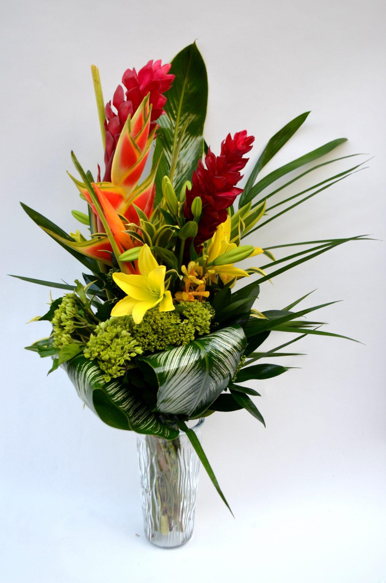 Bouquet Grandiose, fleurs exotiques tout en couleurs