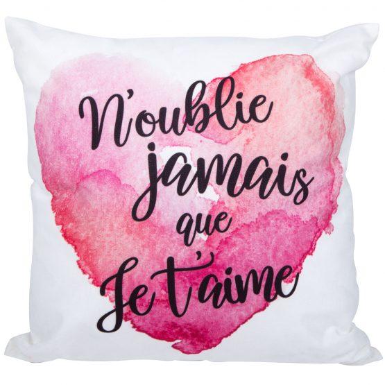 Coussin Chantal Lacroix N'oublie jamais que je t'aime