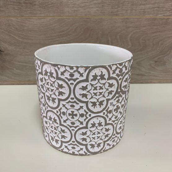 Pot de céramique détaillé