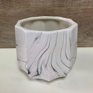 Pot de céramique motif marbré