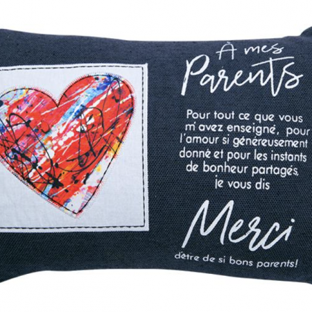 Coussin à mes parents