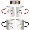 Emsenble tasse amour