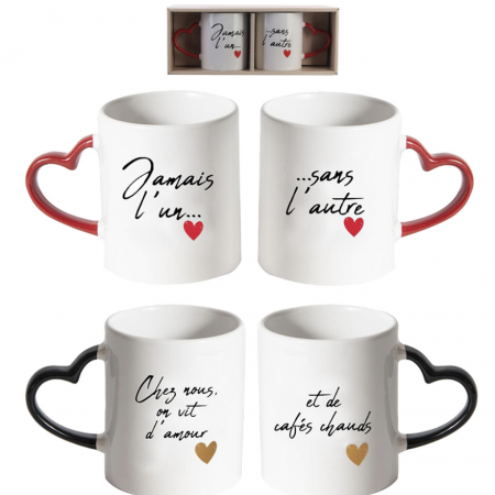 Ensemble de tasses ''Amour''