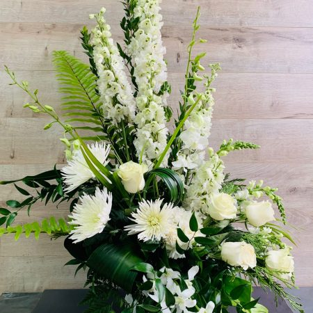 arrangement blanc satin