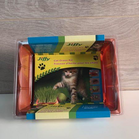 Trousse d'herbe pour les chats Jiffy