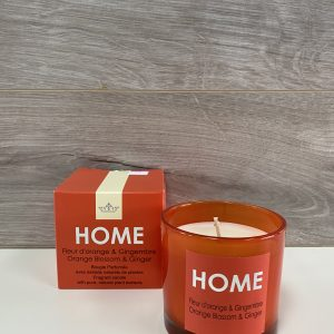 Chandelle HOME fleur d'orange et gingembre