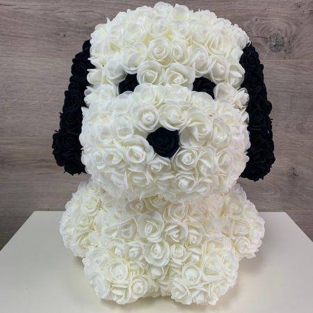 Snoopy de roses (40 cm)