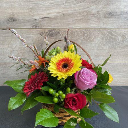 arrangement fleurs en folie
