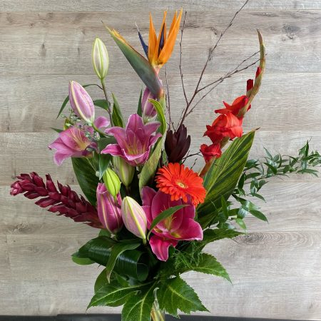 Bouquet explosion tropicale